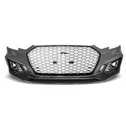 Paraurti anteriore Audi A4 B9 15-19 RS4 Style Black (PDC) nero lucido